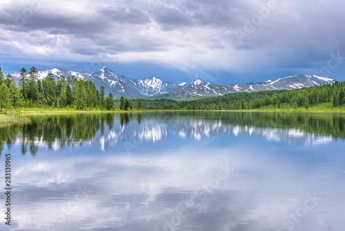 Papiers peints Campagne Mountain landscape mountain lake