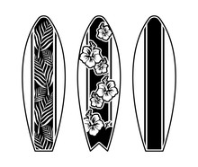 Set Surfboard Print Design For Surfing