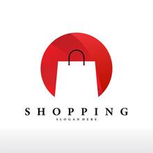 Bag Shop Online Logo Design Vector Icon. Shopping Logo Design - Vector