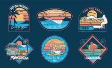 Surfing Set Prints Stickers Patches Posters
