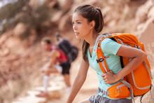 Hike Travel Asian Hiker Woman ...
