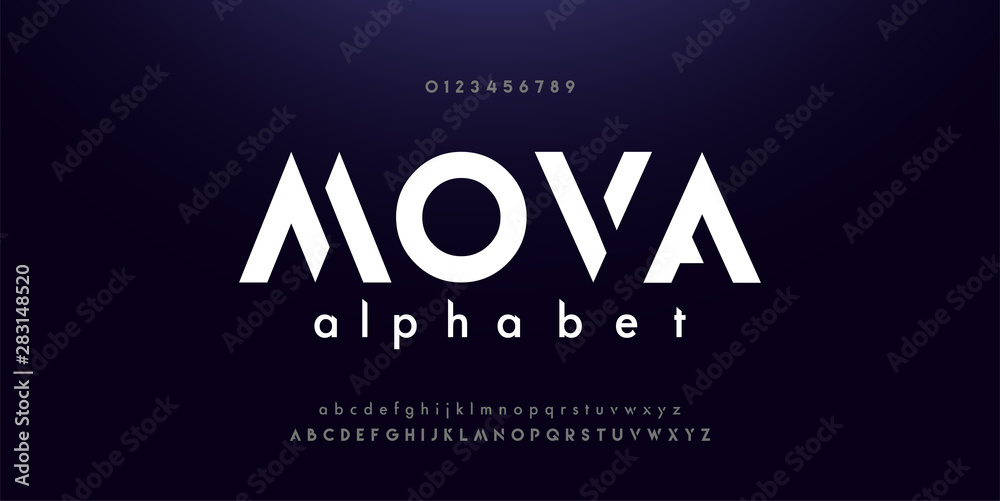 Fototapety, obrazy: Abstract digital modern alphabet fonts. Typography technology electronic dance music future creative font. vector illustraion