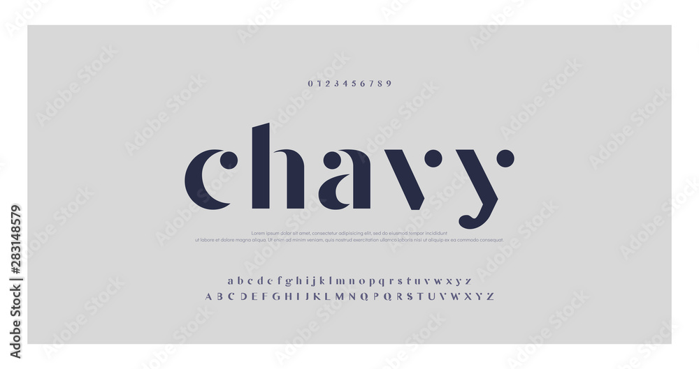 Fototapety, obrazy: Elegant alphabet letters font and number. Classic Lettering Minimal Fashion Designs. Typography fonts regular uppercase and lowercase. vector illustration