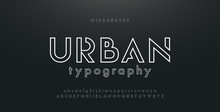 Abstract Urban Thin Line Font ...