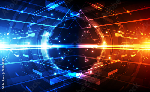 Photo sur Aluminium Echelle de hauteur Abstract futuristic digital technology background. Illustration Vector