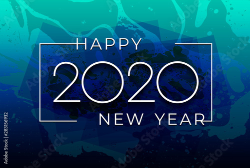 Fototapeta New Year 2020 Creative Element For Design Modern Cards Invitations Party For The New Year 2020 And Christmas Modern Design Festive
