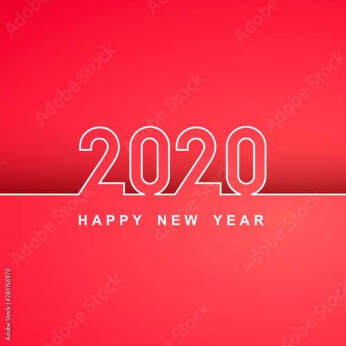 Fototapeta Webwhite Lines New Year 2020 Creative Element For Design Modern Cards Invitations Party For The New Year 2020 And Christmas Design Line