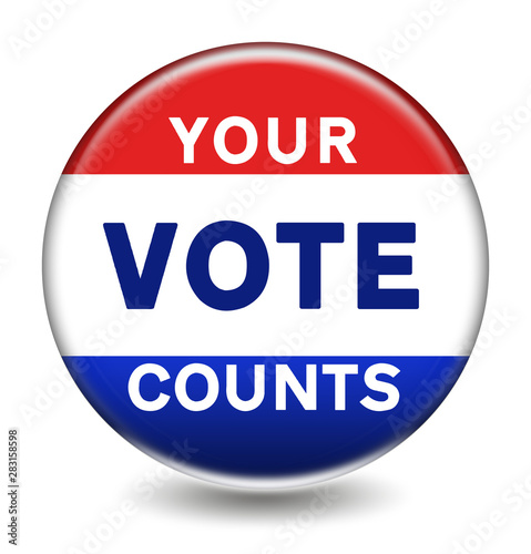 Fototapeta  YOUR VOTE COUNTS - election vote button