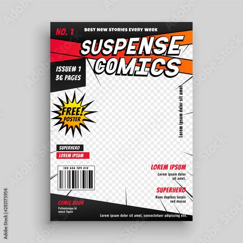 Carta da parati comic book publication cover page design