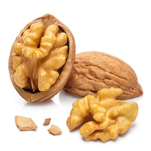 Delicious Walnuts, Isolated On White Background