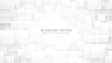 3D Vector Different Size Squar...