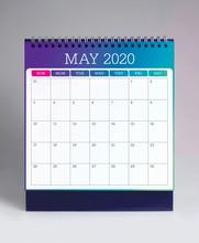 Simple Desk Calendar 2020 - May