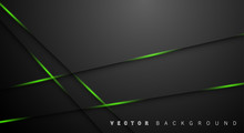 Green Light Line Shadow Dark Grey Luxury Background