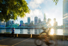 Cyclists In South Bank, Brisba...