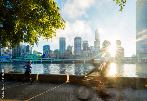 Cyclists in South Bank, Brisbane 1