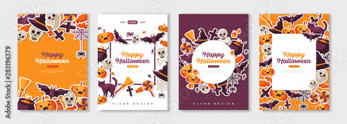 Happy Halloween posters set