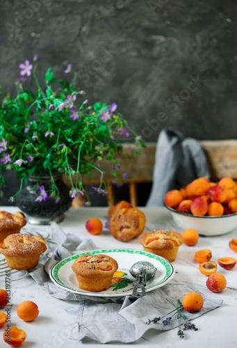 Aluminium Prints Buffet, Bar Apricot lavender cakes.style rustic.