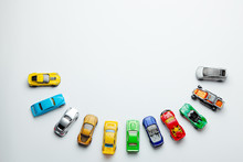 Many Colored Little Toy Cars O...