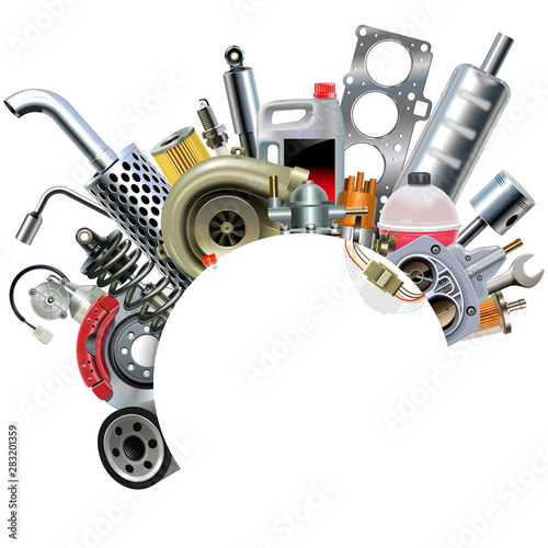Photo Vector Car Spares Frame Concept