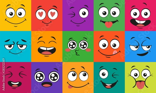 Fotografia Cartoon face expressions