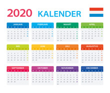 2020 Calendar Dutch - Vector Illustration