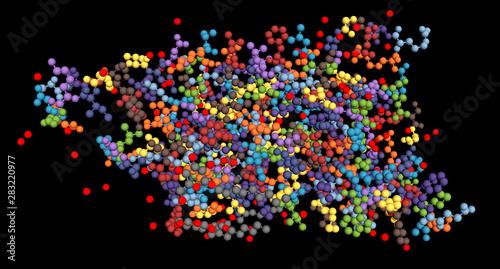Aquaporin, integral membrane protein molecule Canvas Print