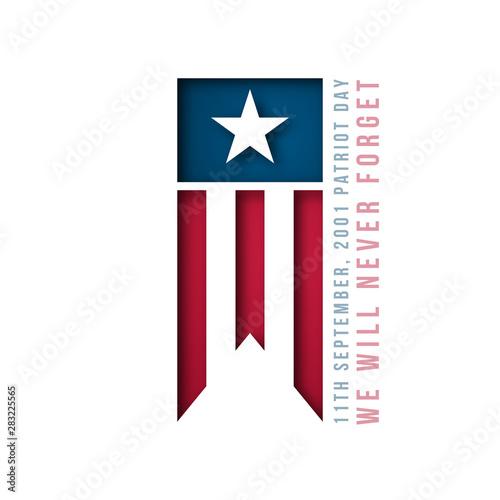 Fotografia  9/11 USA Patriot Day banner