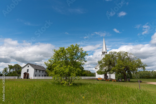 Fototapeta The Saint Antoine de Padoue Roman Catholic church at Batoche, Saskatchewan