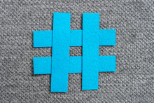 Blue Hashtag Symbol Made With ...