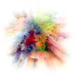 Leinwanddruck Bild - Digital Color Splash Explosion