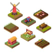 Isometric Illustration Of Farm...
