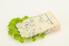 Italian Traditional Gorgonzola Cheese Isolated