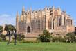 Leinwanddruck Bild - La Seu, the gothic cathedral de Santa María de Palma de Mallorca on the Island of Mallorca, Balearic Islands, Spain.