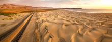 Aerial View Of Sand Dunes In T...