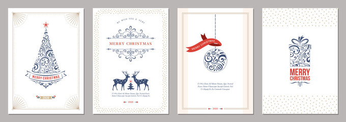 Merry Christmas and Happy Holidays cards