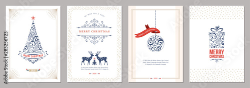Merry Christmas and Happy Holidays cards Canvas Print