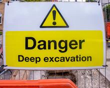 Hazard Warning Sign Of A Deep ...