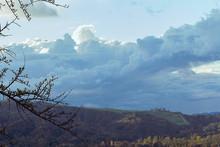 Cloudscape Of Cumulus, Nimbus Clouds Over Griffith Park Canyon