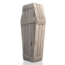 3D Wooden Coffin/ Casket Isola...