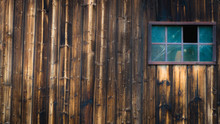 Old Wooden Window On The Wall