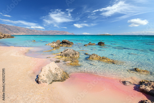 Obraz Famous Elafonisi beach on Greece island Crete - fototapety do salonu
