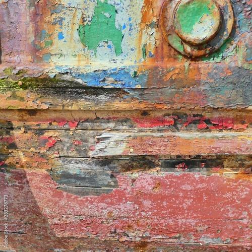 Poster Graffiti Old Trawler