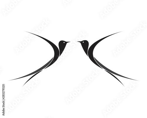 Valokuva  Bird Logo Template vector illustration