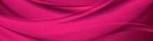 Abstract Purple Liquid Flowing Elegant Waves Banner Design. Smooth Silk Wavy Header Background. Vector Illustration