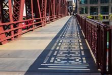 Shadows Of The Bridge Railing ...