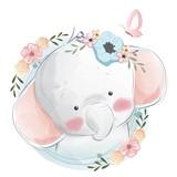 Fototapeta Fototapety na ścianę do pokoju dziecięcego - Cute Elephant Portrait