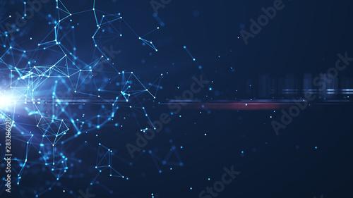 Obraz Technology Network Background. - fototapety do salonu