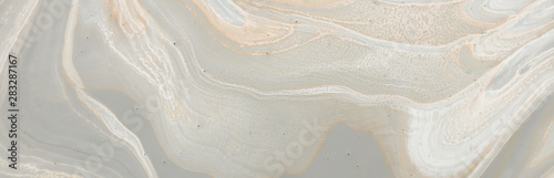 Photo Stands Asia Country photography of abstract marbleized effect background. gray, gold and white creative colors. banner