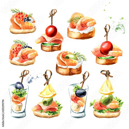 Wallpaper Mural Appetizer for a festive table