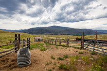 Old Horse Corral In Colorado's...